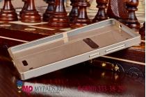 Фирменная металлическая задняя панель-крышка-накладка из тончайшего облегченного авиационного алюминия для Lenovo VIBE X2 золотая