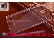 Фирменная ультра-тонкая пластиковая задняя панель-чехол-накладка для Lenovo VIBE X2 прозрачная..