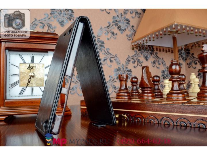 Фирменный оригинальный вертикальный откидной чехол-флип для Леново Вайб Х2 (LBP0RM001) черный из качественной ..