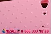 """Фирменная необычная уникальная полимерная мягкая задняя панель-чехол-накладка для Lenovo VIBE X2 """"тематика Андроид в клубничном шоколаде"""""""