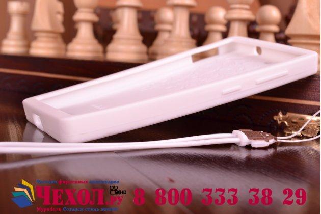 """Фирменная необычная уникальная полимерная мягкая задняя панель-чехол-накладка для Lenovo VIBE X2 """"тематика Андроид в Белом Шоколаде"""""""
