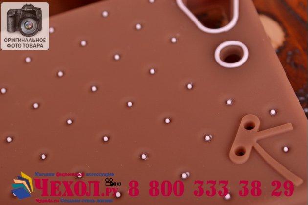 """Фирменная необычная уникальная полимерная мягкая задняя панель-чехол-накладка для Lenovo VIBE X2 """"тематика Андроид в тёмном Шоколаде"""""""