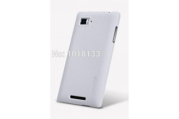 Фирменная задняя панель-крышка-накладка из тончайшего и прочного пластика для Lenovo Vibe Z1 K910 белая