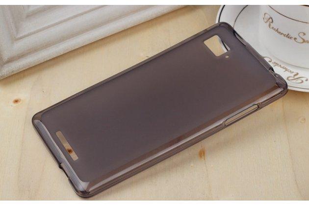 Фирменная ультра-тонкая полимерная из мягкого качественного силикона задняя панель-чехол-накладка для Lenovo Vibe Z1 K910 черная