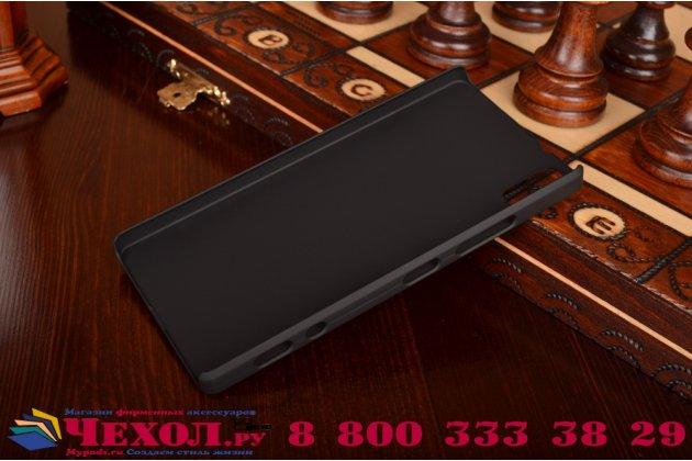 Фирменная задняя панель-крышка-накладка из тончайшего и прочного пластика для Lenovo Vibe Shot Z90/Z90-3/Z90-7/Z90-A40/Z90A40 LTE 5.0 черная
