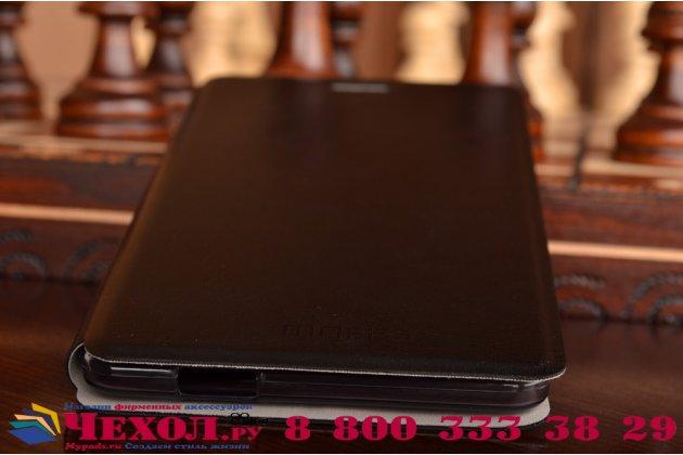 Фирменный чехол-книжка из качественной водоотталкивающей импортной кожи на жёсткой металлической основе для Lenovo Vibe Z1 K910 черный