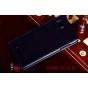 Фирменный оригинальный вертикальный откидной чехол-флип для Lenovo Vibe Z K910 черный кожаный