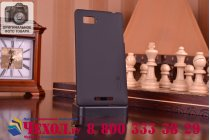 Фирменная задняя панель-крышка-накладка из тончайшего и прочного пластика для Lenovo Vibe Z1 K910 черная