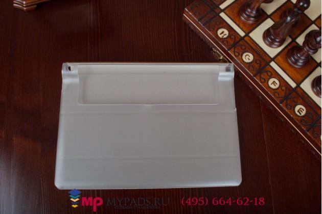 Фирменный чехол-футляр-книжка для Lenovo Yoga Tablet 10 HD+ B8080-h золотой пластиковый