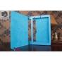 Фирменный чехол-футляр-книжка для Lenovo Yoga Tablet 10 HD+ B8080 бирюзовый кожаный..