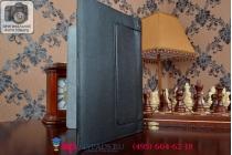 Фирменный чехол закрытого типа с отделением под аккумулятор для Lenovo Yoga Tablet 10 HD+ B8080-h черный кожаный