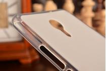 """Фирменная ультра-тонкая силиконовая задняя панель-чехол-накладка для Meizu M3 Max 6.0"""" белая"""