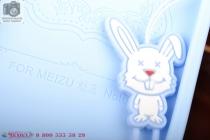 """Фирменная необычная уникальная полимерная мягкая задняя панель-чехол-накладка для Meizu M1 note """"тематика Андроид в черничном  Шоколаде"""""""