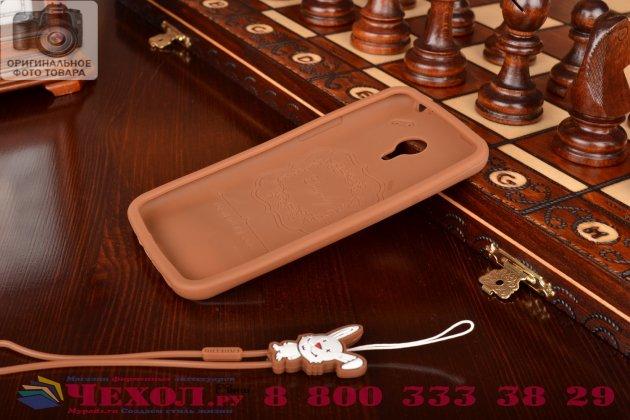 """Фирменная необычная уникальная полимерная мягкая задняя панель-чехол-накладка для Meizu M1 note  """"тематика Андроид в тёмном Шоколаде"""""""