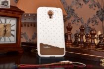 """Фирменная необычная уникальная полимерная мягкая задняя панель-чехол-накладка для Meizu M1 note """"тематика Андроид в Белом Шоколаде"""""""