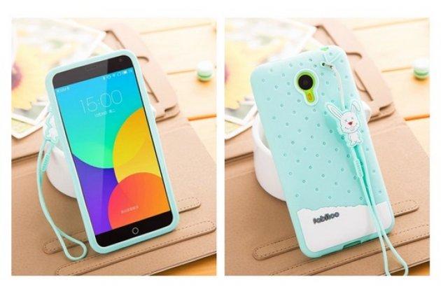 """Фирменная необычная уникальная полимерная мягкая задняя панель-чехол-накладка для Meizu M1 note """"тематика Андроид в мятном шоколаде"""""""