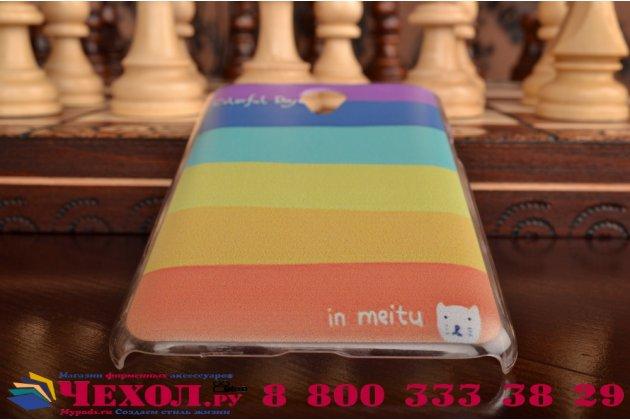"""Фирменная необычная из легчайшего и тончайшего пластика задняя панель-чехол-накладка для Meizu M1 note """"тематика Все цвета Радуги"""""""