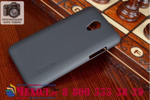 Фирменная задняя панель-крышка-накладка из тончайшего и прочного пластика для Meizu M1 note черная