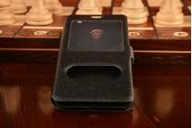 """Фирменный чехол-книжка для Meizu M2 mini 5.0"""" черный с окошком для входящих вызовов и свайпом водоотталкивающий"""