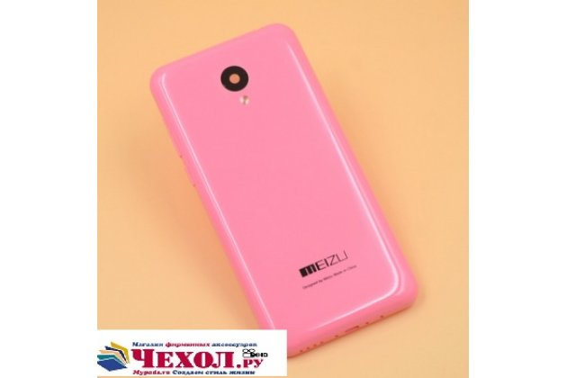 Родная оригинальная задняя крышка-панель которая шла в комплекте для  Meizu M2 mini розовая