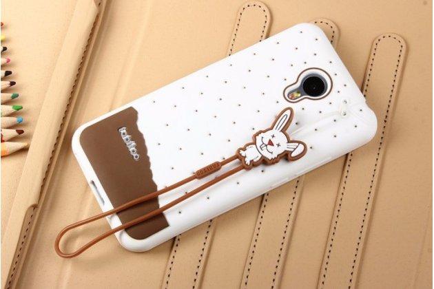 """Фирменная необычная уникальная полимерная мягкая задняя панель-чехол-накладка для Meizu M2 mini 5.0"""" """"тематика Андроид в Белом Шоколаде"""""""