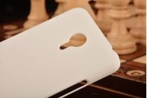 Фирменная задняя панель-крышка-накладка из тончайшего и прочного пластика для Meizu M2 note белая
