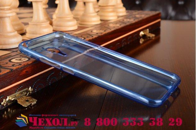 Фирменная из полимерного ультра-тонкого силикона задняя панель-чехол-накладка для Meizu M2 note голубая