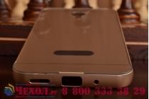 Фирменная металлическая задняя панель-крышка-накладка из тончайшего облегченного авиационного алюминия для Meizu M2 note золотая