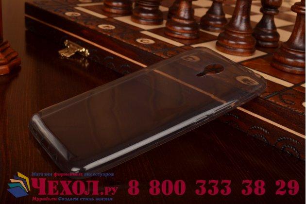Фирменная ультра-тонкая полимерная из мягкого качественного силикона задняя панель-чехол-накладка для Meizu M2 note черная