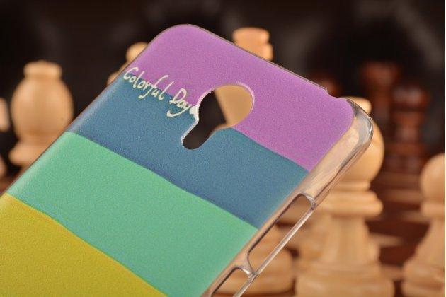 """Фирменная необычная из легчайшего и тончайшего пластика задняя панель-чехол-накладка для Meizu M2 note  """"тематика Все цвета Радуги"""""""