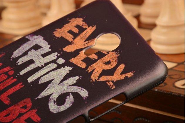 """Фирменная необычная из легчайшего и тончайшего пластика задняя панель-чехол-накладка для Meizu M2 note  """"тематика Граффити"""""""