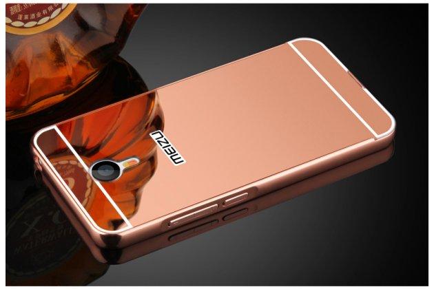 Фирменная металлическая задняя панель-крышка-накладка из тончайшего облегченного авиационного алюминия для Meizu M3 Note розовая
