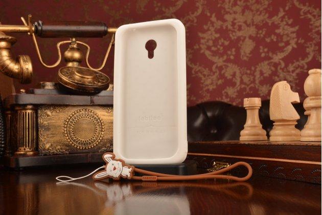 """Фирменная необычная уникальная полимерная мягкая задняя панель-чехол-накладка для Meizu M3 Note """"тематика Андроид в Белом Шоколаде"""""""