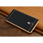 Фирменная премиальная элитная крышка-накладка на Meizu M3 Note черная из качественного силикона с дизайном под..