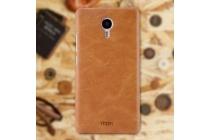 """Фирменная роскошная элитная премиальная задняя панель-крышка для Meizu M3 Note 5.5"""" из качественной кожи буйвола коричневый"""