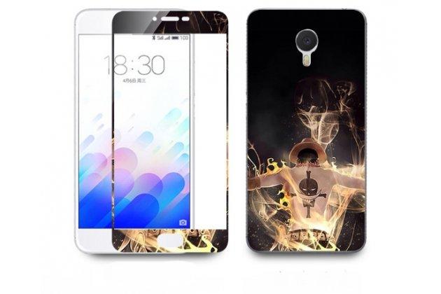 """Фирменная оригинальная защитная пленка-наклейка с 3d рисунком """"тематика Halloween"""" на твёрдой основе, ударопрочная, которая не увеличивает телефон в размерах для телефона Meizu M3 Note 5.5"""" (m681q/c)"""