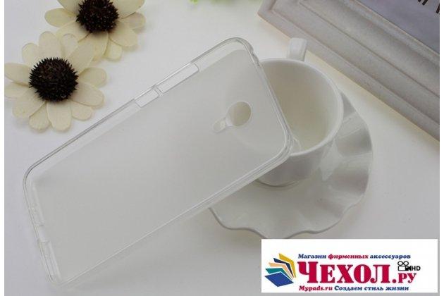 Фирменная ультра-тонкая полимерная из мягкого качественного силикона задняя панель-чехол-накладка для Meizu M3 Note белая