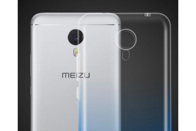 Фирменная ультра-тонкая полимерная задняя панель-чехол-накладка из силикона для Meizu M3 Note прозрачная с эффектом дождя