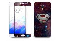 """Фирменная оригинальная защитная пленка-наклейка с 3d рисунком """"тематика Superman"""" на твёрдой основе, ударопрочная, которая не увеличивает телефон в размерах для телефона Meizu M3 Note 5.5"""" (m681q/c)"""
