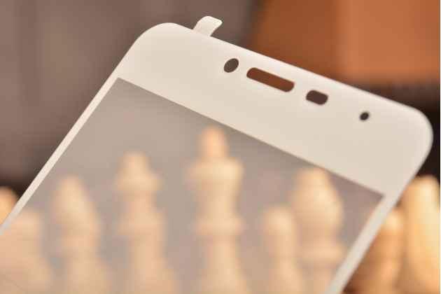"""Фирменное 3D защитное изогнутое стекло с закругленным изогнутым краем которое полностью закрывает экран / дисплей по краям с олеофобным покрытием для Meizu M3/ M3 Metal/ M3S/ M3s Mini 5.0"""" (M688Q)"""