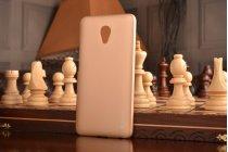 Фирменная ультра-тонкая полимерная из мягкого качественного силикона задняя панель-чехол-накладка для Meizu M3E (A680H) 5.5 золотая
