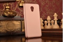 """Фирменная задняя панель-крышка-накладка из тончайшего и прочного пластика для Meizu M3/ M3 Metal/ M3S/ M3s Mini 5.0"""" (M688Q) розовое золото"""