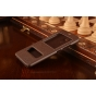 """Фирменный чехол-книжка для Meizu M3/ M3 Metal/ M3S/ M3s Mini 5.0"""" (M688Q) коричневый с окошком для входящих вызовов и свайпом водоотталкивающий"""