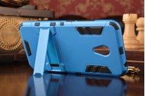"""Противоударный усиленный ударопрочный фирменный чехол-бампер-пенал для Meizu M3/ M3 Metal/ M3S/ M3s Mini 5.0"""" (M688Q) синий"""