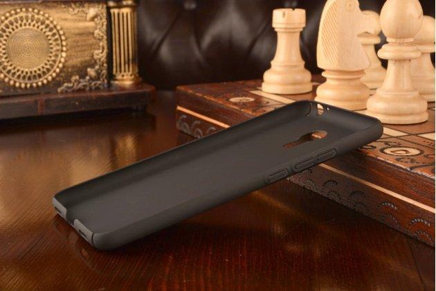 Фирменная задняя панель-крышка-накладка из тончайшего и прочного пластика для Meizu M3 Note черный