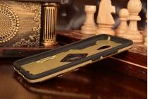 """Противоударный усиленный ударопрочный фирменный чехол-бампер-пенал для Meizu M3/ M3 Metal/ M3S/ M3s Mini 5.0"""" (M688Q) золотой"""