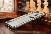 Фирменная металлическая задняя панель-крышка-накладка из тончайшего облегченного авиационного алюминия для Meizu M3 Note черная