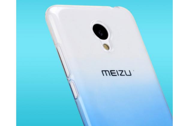 """Фирменная ультра-тонкая полимерная задняя панель-чехол-накладка из силикона для Meizu M3/ M3 Metal/ M3S/ M3s Mini 5.0"""" (M688Q) прозрачная с эффектом дождя"""
