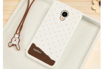 """Фирменная необычная уникальная полимерная мягкая задняя панель-чехол-накладка для Meizu M3/ M3 Metal/ M3S/ M3s Mini 5.0"""" (M688Q) """"тематика Андроид в Белом Шоколаде"""""""