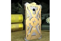 """Противоударный металлический чехол-бампер из цельного куска металла с усиленной защитой углов и необычным экстремальным дизайном  для Meizu M3/ M3 Metal/ M3S/ M3s Mini 5.0"""" (M688Q) золотого цвета"""